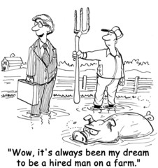 Dreams of Being a Hired Hand on a Farm
