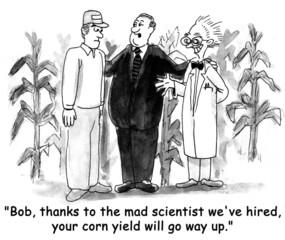 Corn Salesman Talks to Farmer
