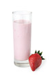 Glass with strawberry yogurt