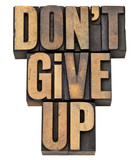 do not give up phrase poster