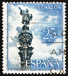 Postage stamp Spain 1965 Christopher Columbus Monument, Barcelon