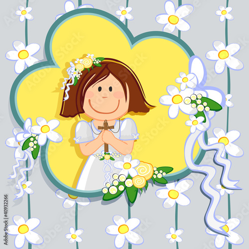 Prima comunione bambina 1-First communion girl
