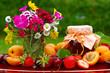 Obst,Blumen,Marmelade