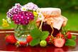 Erdbeermarmelade,Blumen