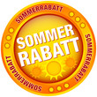 "Button ""Sommerrabatt"" gelb/orange"