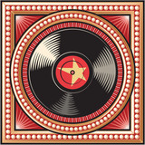 vinyl disc retro design