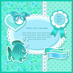 Baby shower with scrapbook elements
