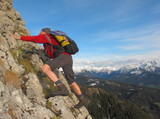 Kletterer im Alpinstil