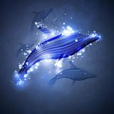Fototapete Neon - Künstlerbedarf - Meeressäuger