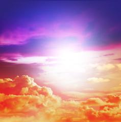 sunlight colourful sky