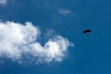 silhouette parachutist