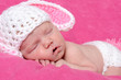 Neugeborenes Baby als Häschen