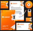 Business style, corporate identity template 8 (orange industrial