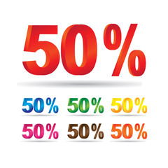 fifty percent discount - 50%