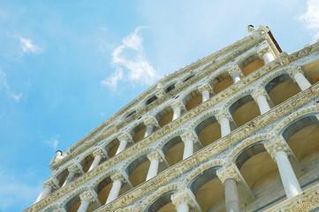 Facciata del Duomo di Pisa, Piazza dei Miracoli, Italia