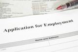 employment application and  jobs section poster