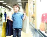 Little boy doing shopping