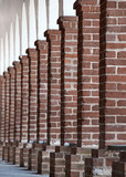 A row of brick columns
