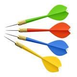 Fototapety Set of darts