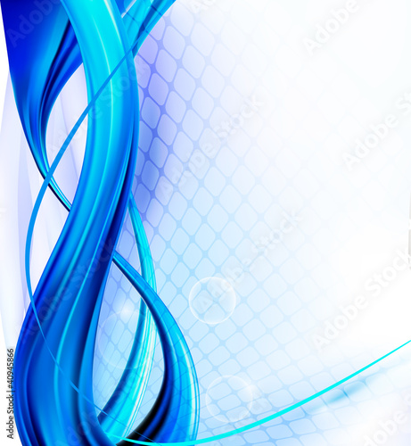 Abstract Elegant Blue Background. Vector.