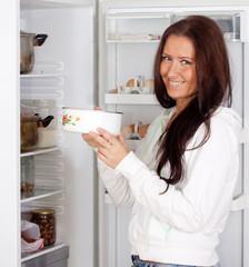 woman with saucepan
