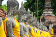 many old buddhas in thai temple