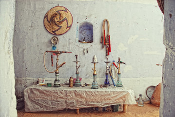 hookah in an egyption cafe