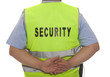 detail of a security staff member