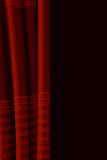 fabric red curtains