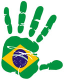 Handprint flag of Brazil