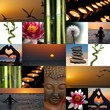 Fototapeten,collagen,mosaik,zen,bambus