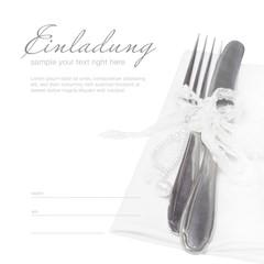 Einladung zum Abendessen - ganz in Weiß