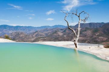 Hierve el Agua, thermal spring in Oaxaca (Mexico)