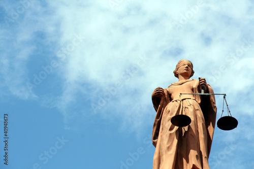 Leinwandbild Motiv Justitia, Göttin der Gerechtigkeit