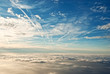 heavenly view of sky & clouds from a jet plane