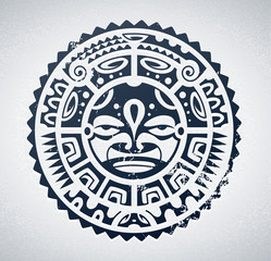 Polynesian tattoo styled vector illustration.