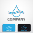 Stylized logo water # Vector