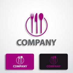 Stylized logo restaurant # Vector