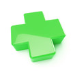 green first aid cross sign