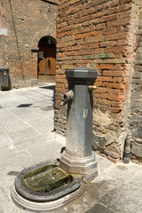 Drinking fountain on the streets of Sienna