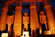 illuminations of the ancient egyptian temple of Luxor