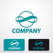 Stylized logo infinity # Vector