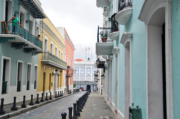 Colonial architecture in Old San Juan (Puerto Rico)