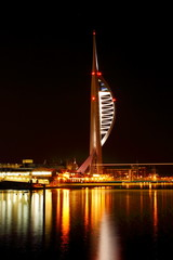 Spinnaker Tower at night