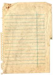 Old note paper background. Vintage paper background.