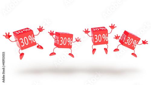 "happy discount ""30%"""