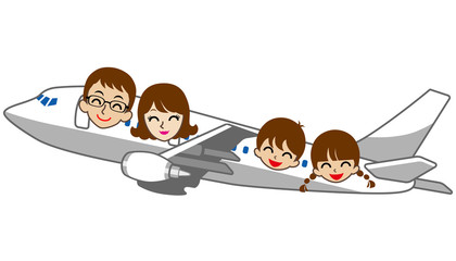 Family Travel airplane