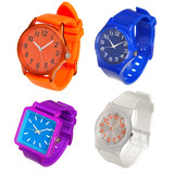 colorful set of wrist watches isolated on white