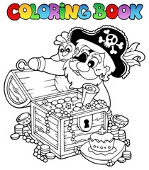 Coloring book with pirate theme 8