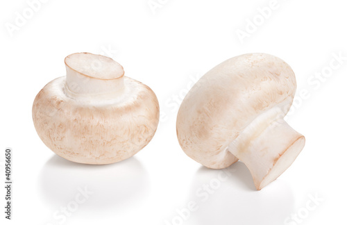 Fresh Mushrooms champignon Isolated on a white background